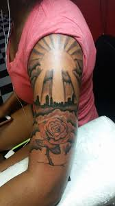 custom free sun rays tattoos