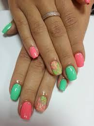 pink and lime green nails the best images bestartnails com