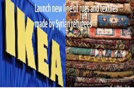 ikea syrian refugees to launch new line of rugs and textiles made by syrian refugees