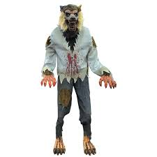 life sized lurching cursed werewolf animated prop 328676