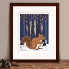 limited edition squirrel print by hipster spinster