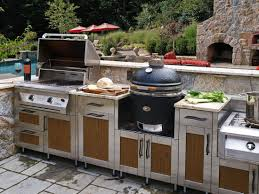 outstanding backyard kitchen design small bar green ceramic grill