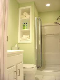 Recessed Shelves In Bathroom Bathroom Outstanding Bright Tiny Bathroom With White Recessed