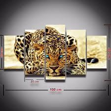 luxury 5 piece animal painting leopard cheetah modern home wall