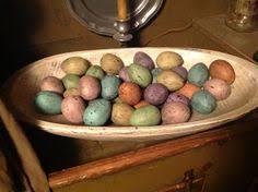 vtg antique primitive miniature egg easter kitchen gardening wicker