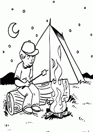 minnie mouse camping coloring kids coloring