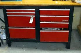 craftsman table top tool box tool box work bench lot of workbench with craftsman toolbox base