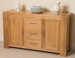 kitchen sideboard cabinet kuba solid oak wood large sideboard 3 drawers and 2 doors dining