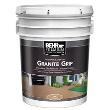 behr 5 gal 65505 tan granite grip interior exterior concrete