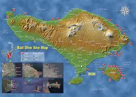 Map Of Bali Sites Bali International Diving Professionals Bidp Bali