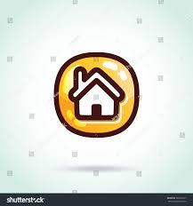vector home icon creative graphic design stock vector 286992017