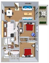 2 bedroom flat floor plan 2 bedroom flat at summer pointe 1000 square feet floor plans rates