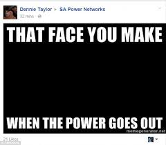 Electricity Meme - adelaide plunged into darkness by major electricity outage daily
