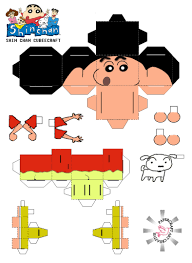 anime papercraft toy crayon shin chan cubeecraft paper model