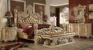 Antique Bed Sets Magnifico 6 Bedroom Set In Antique White Finish By Homey