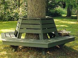 specious unique designs round tree bench for park area bedroomi net