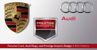 stuttgart car logo porsche crest audi rings and prestige imports badge a rich history