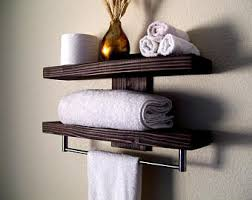 Bathroom Wall Shelves Rustic Bathroom Shelf Rustic Wood Shelf Towel Rack Entryway