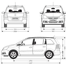 opel zafira 2005 tutorials3d com blueprints opel zafira