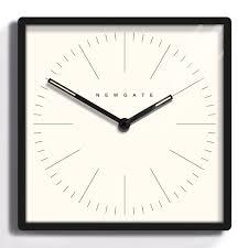 newgate mr robinson wall clock black minimalist square clock