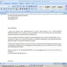 cover letter template for email format business attachment sample