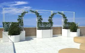 stainless steel planter square with trellis modular