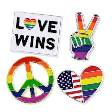 Flag Lapel Pins Bulk Pinmart U0027s Pride Rainbow Flag Love Wins Lgbt Enamel Lapel Pin