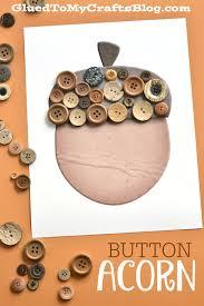 button acorn kid craft w free printable template free printable