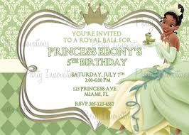 free printable princess and the frog birthday invitations