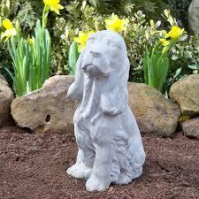 springer spaniel garden statue beautify the yard with a garden