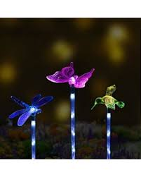 solar led stake lights amazing deal on sooreally solar powered garden stake lights color