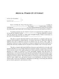 Medical Power Attorney by Medical Power Of Attorney Form 8 Free Templates In Pdf Word