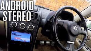 lexus is z usa android stereo replacement install lexus is200 car vlog youtube