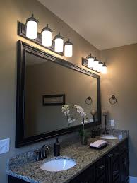 Bronze Bathroom Mirror Framing Bathroom Mirrors Bathroom Transitional With Large Framed