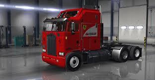 kenworth usa kenworth k100 aerodyne scuderia ferrari skin american truck