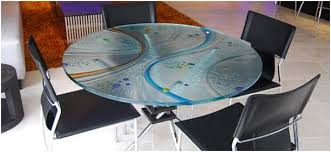 frosted tempered glass table top bear glass