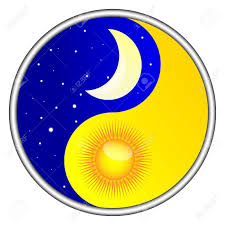 day and yin yang royalty free cliparts vectors and stock