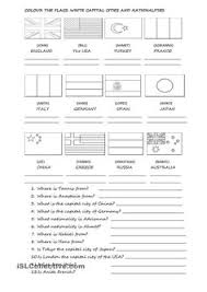 52 free esl flags worksheets teach pinterest countries and