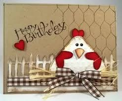 tlc411 happy birthday chicken by jaydekay cards and paper crafts