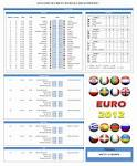 Buefa Euro 2012 B Schedule And Scoresheet Excel Templates