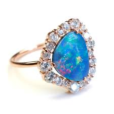 blue opal engagement rings ring opal engagement ring engagement ring opal ring blue