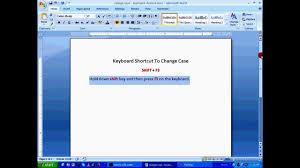 tutorial youtube word ms word tutorial change case using keyboard shortcuts hd youtube