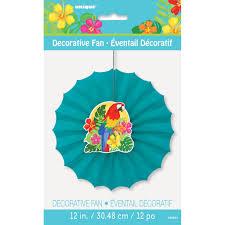 tropical island luau paper fans luau party decorations