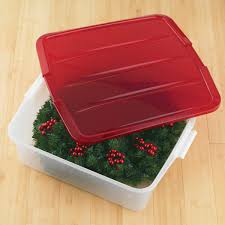 18 clear wreath box the container store