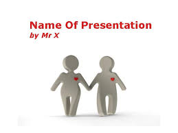 love between two figurines powerpoint template