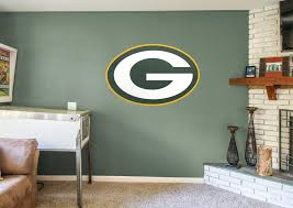 Green Bay Packer Flag Green Bay Packers Logo Wall Decal Shop Fathead For Green Bay