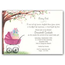 baby shower invitations for foliage carriage baby