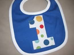 birthday bib infant toddler boys royal blue polka dot lolli dot bib