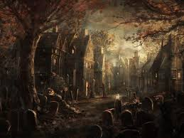 halloween villages my free wallpapers fantasy wallpaper halloween village