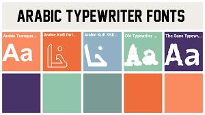 arabic typewriter fonts thinnagins handwriting font